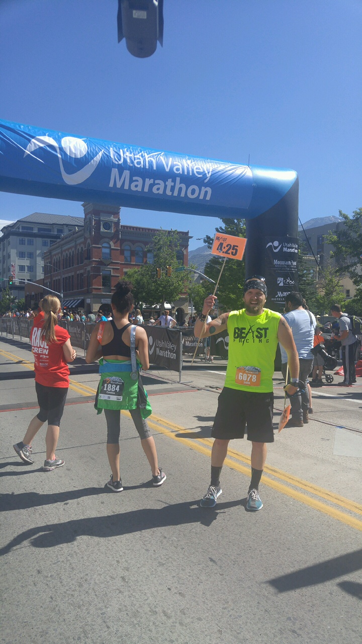 Pacing for Utah Valley Marathon 2017